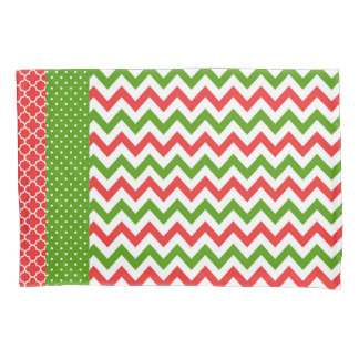 Christmas Pillow Case Red and Green Pattern
