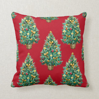 Christmas pillow (Red) Throw Cushions