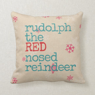 Christmas pillow the red nosed reindeer