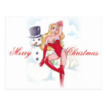 CHRISTMAS PIN UP POST CARD