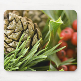 Christmas Pine Cone Mouse Pad