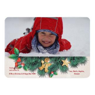 Christmas Pine Photo Holiday Card 13 Cm X 18 Cm Invitation Card