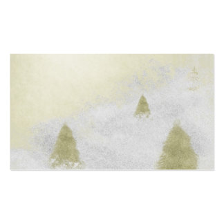 christmas pine trees in the snow painting pack of standard business cards