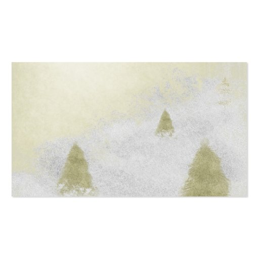 christmas pine trees in the snow painting business cards
