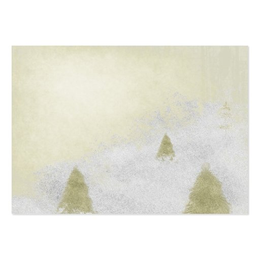 christmas pine trees in the snow painting business card
