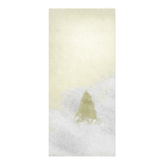 christmas pine trees in the snow painting rack card