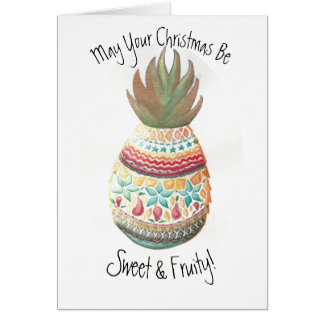 Christmas Pineapple Card 2