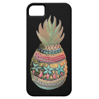 Christmas Pineapple Iphone case Black