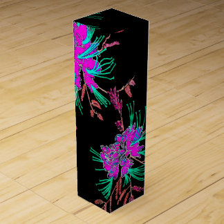 Christmas Pink Oriental Flower Wine Box