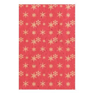 Christmas pink snowflakes pattern cork paper print