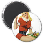Christmas Pinup 6 Cm Round Magnet