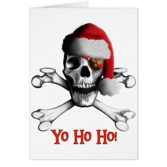 Christmas Pirate Holiday Card