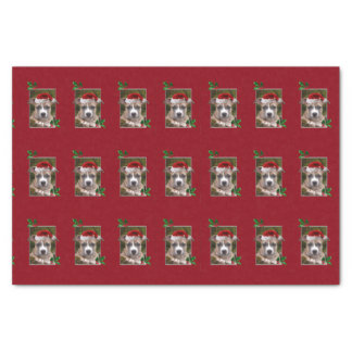 Christmas Pitbull dog tissue paper