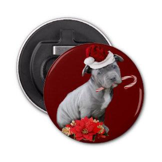 Christmas Pitbull puppy Bottle Opener