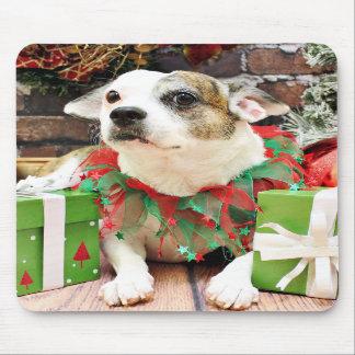Christmas - Pitbull X - Opie Mousepad