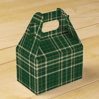 Christmas Plaid 04-PARTY FAVOR BOX, gable Favour Boxes