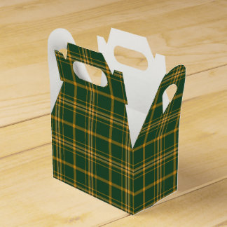 Christmas Plaid 13-PARTY FAVOR BOX, gable Wedding Favour Boxes