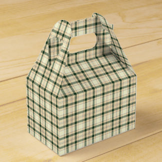 Christmas Plaid 16-PARTY FAVOR BOX, gable Wedding Favour Boxes
