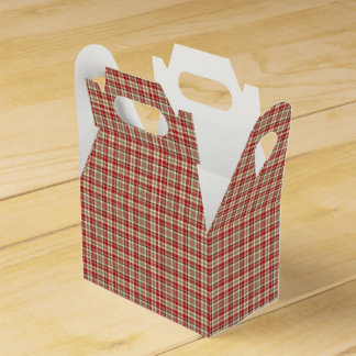 Christmas Plaid 19-PARTY FAVOR BOX, gable Party Favour Boxes