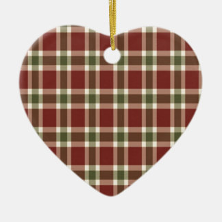 christmas-plaid- christmas ornament
