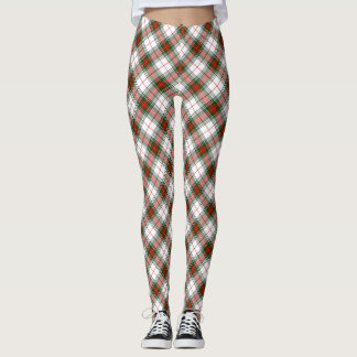 Christmas Plaid ~ Classic Red, Green and White Leggings