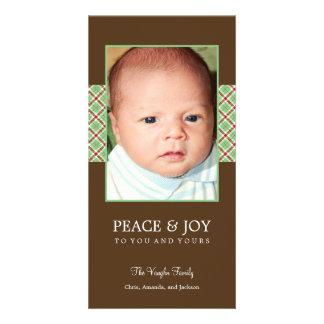Christmas Plaid Holiday Photo Card Photo Greeting Card
