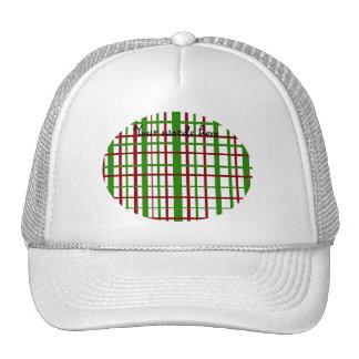 Christmas plaid pattern trucker hats