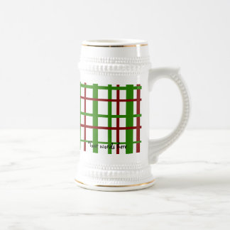 Christmas plaid pattern mugs
