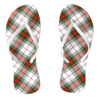 Christmas Plaid ~ Personalized Flip Flops