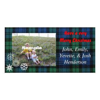 Christmas Plaid Photocard Card