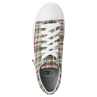 Christmas plaid red green white low tops