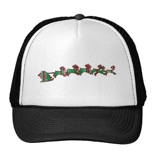 Christmas Plaid Santa Hats