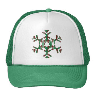 Christmas Plaid Snowflake Cap