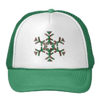 Christmas Plaid Snowflake Trucker Hat
