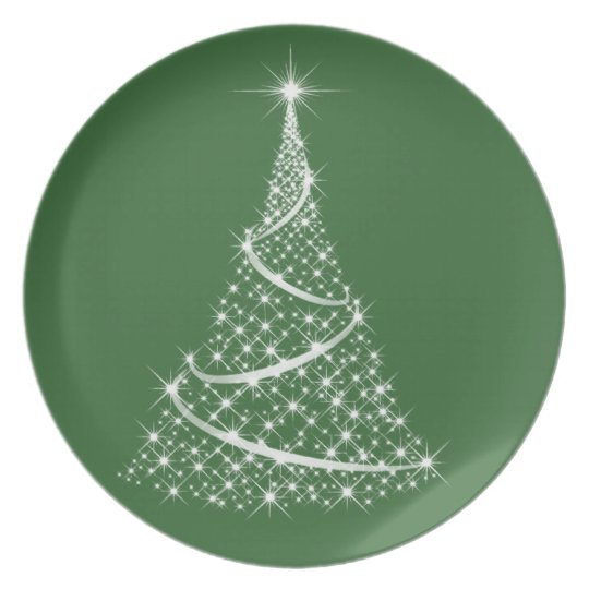 Christmas Plate - choose your colour