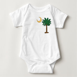 Christmas Pocket Palmetto Baby Bodysuit