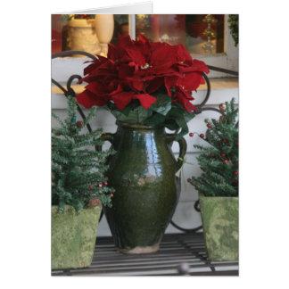 Christmas Poinsetta card