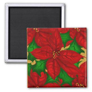 Christmas Poinsetta Magnet