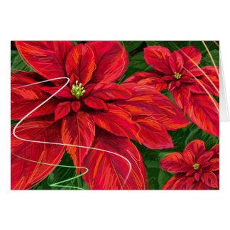Christmas Poinsettas Card