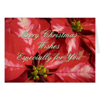 Christmas Poinsettia 2 -customize Card