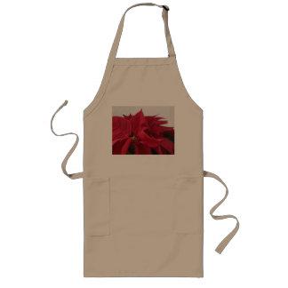 Christmas poinsettia apron