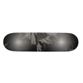 Christmas Poinsettia Black And Grey 21.3 Cm Mini Skateboard Deck