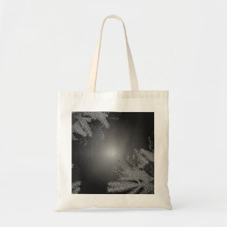 Christmas Poinsettia Black And Grey Tote Bag