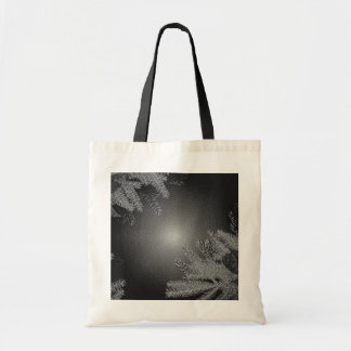 Christmas Poinsettia Black And Grey Tote Bags