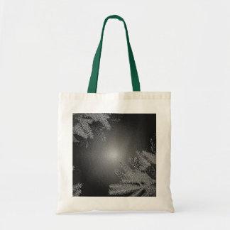 Christmas Poinsettia Black And Grey Budget Tote Bag