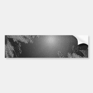Christmas Poinsettia Black And Grey I Car Bumper Sticker