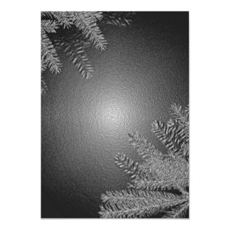 Christmas Poinsettia Black And Grey I Announcements
