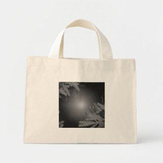 Christmas Poinsettia Black And Grey I Mini Tote Bag