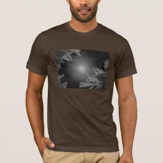 Christmas Poinsettia Black And Grey I T-Shirt