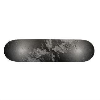 Christmas Poinsettia Black And Grey II Skate Deck